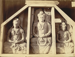 Statues of Bodhisattvas from Mian Khan, Peshawar District